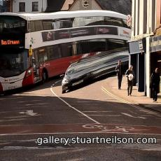 Stuart Neilson - 1c2 Bus on Parliament Bridge (video slit-scan)
