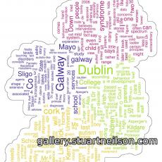 Stuart Neilson - 2a2 Autistic Ireland (newspaper word frequency clouds)